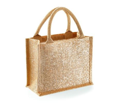 Jute-Taschen glitzer